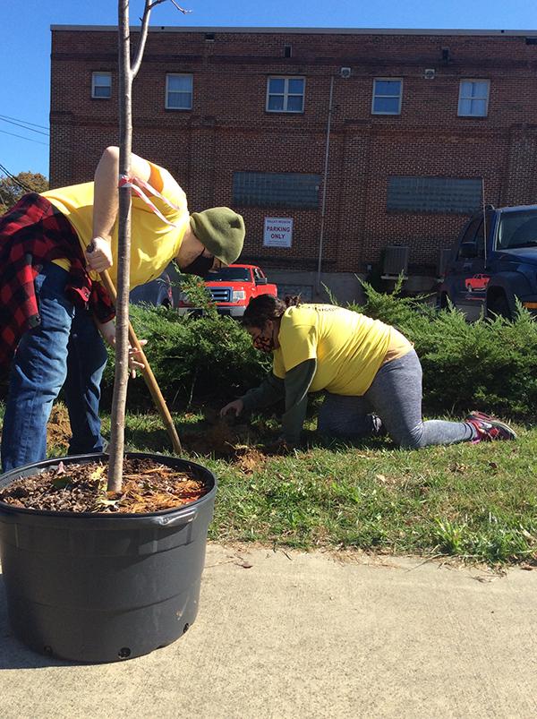 Shenandoah Green's leadership team gardening