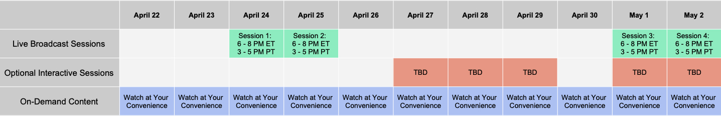 schedule for weekend